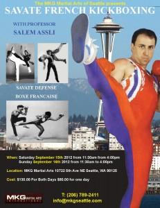 Savate Seminar With Professor Salem Assli September 15 & 16, 2012