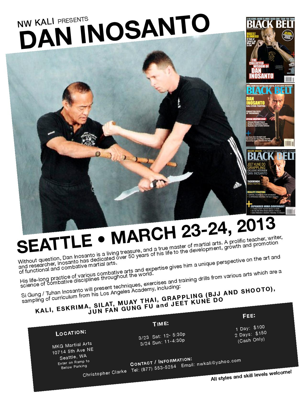 Guro Dan Inosanto at MKG Martial Arts Seattle