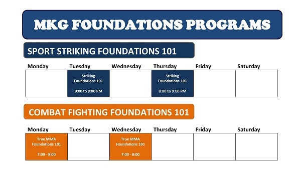 MKG Class Schedule 2013 - Foundations Trial Program