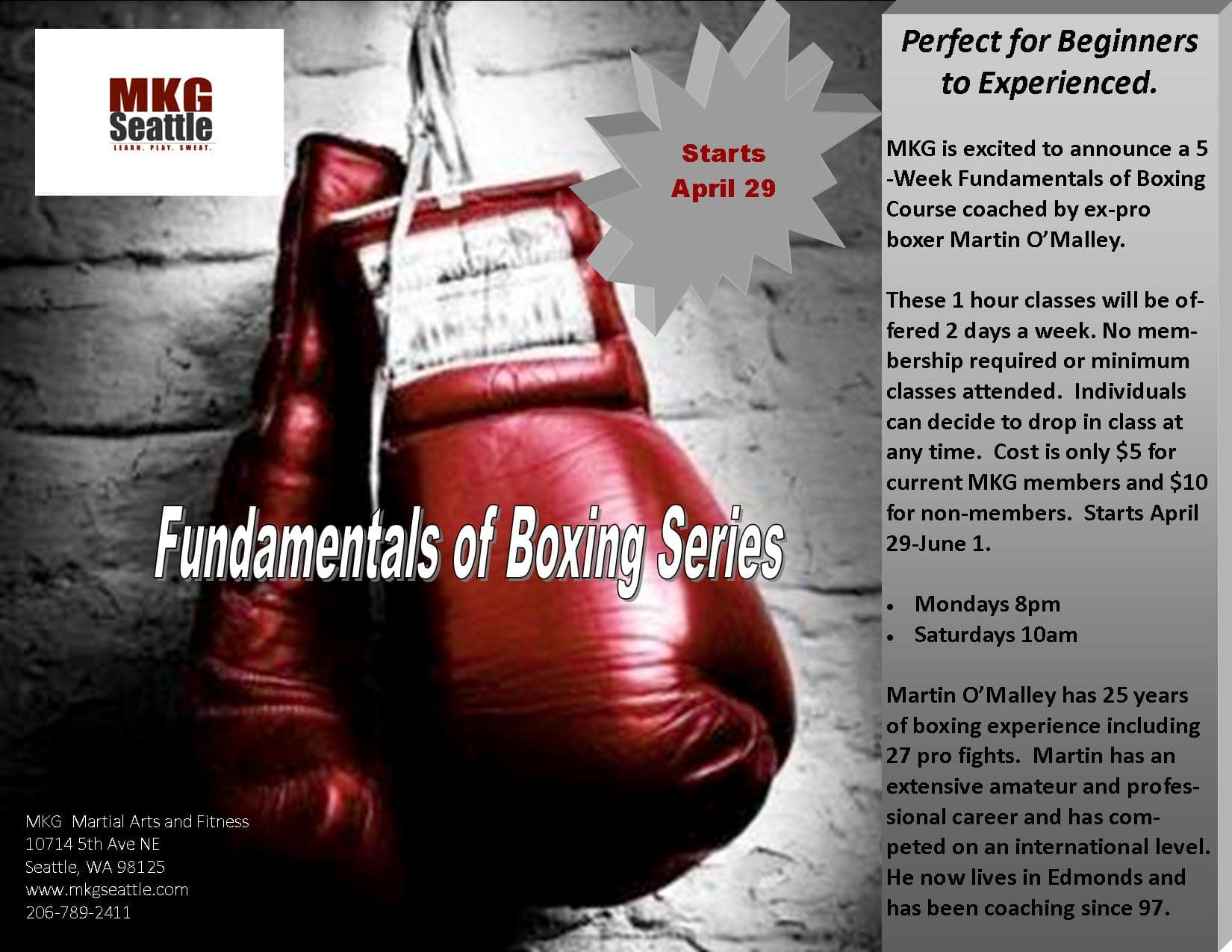 MKG Boxing Seattle 5-Week Workshop