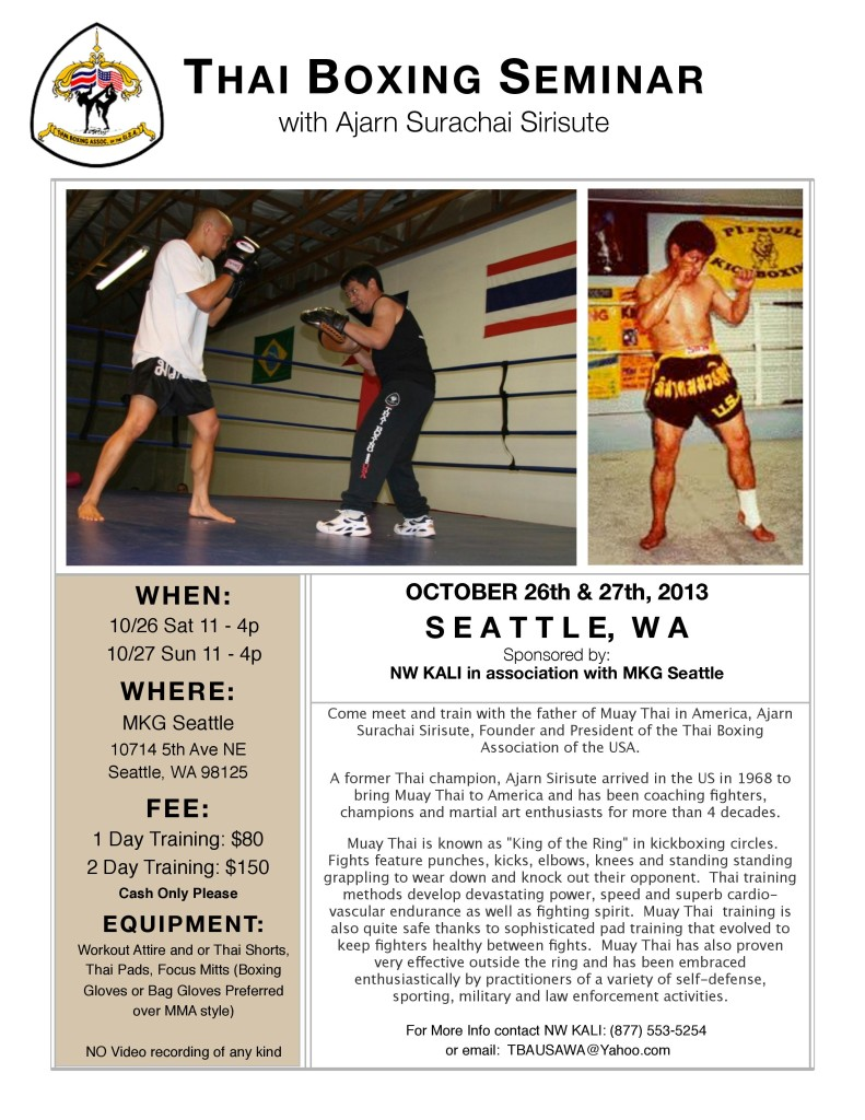 Muay Thai Boxing Seattle at MKG Ajarn Chai Sirisute TBA