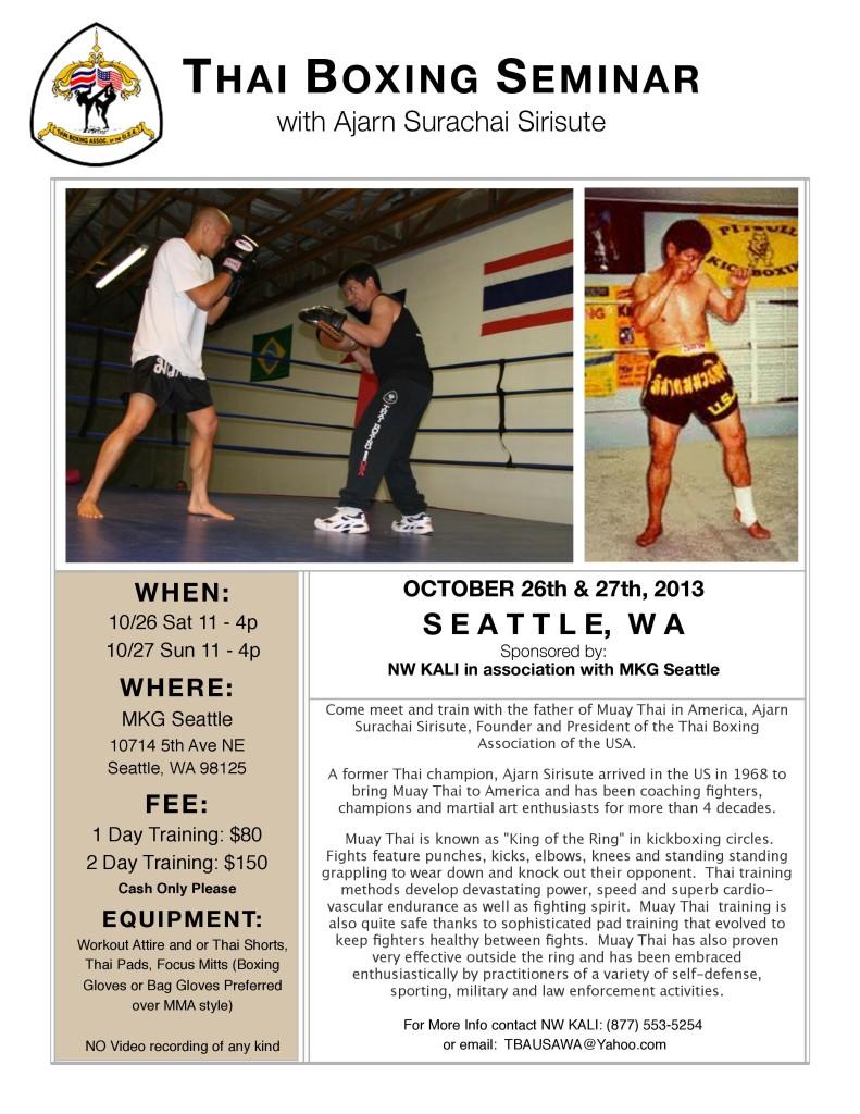 Muay Thai Boxing Seattle at MKG Ajarn Chai Sirisute TBA