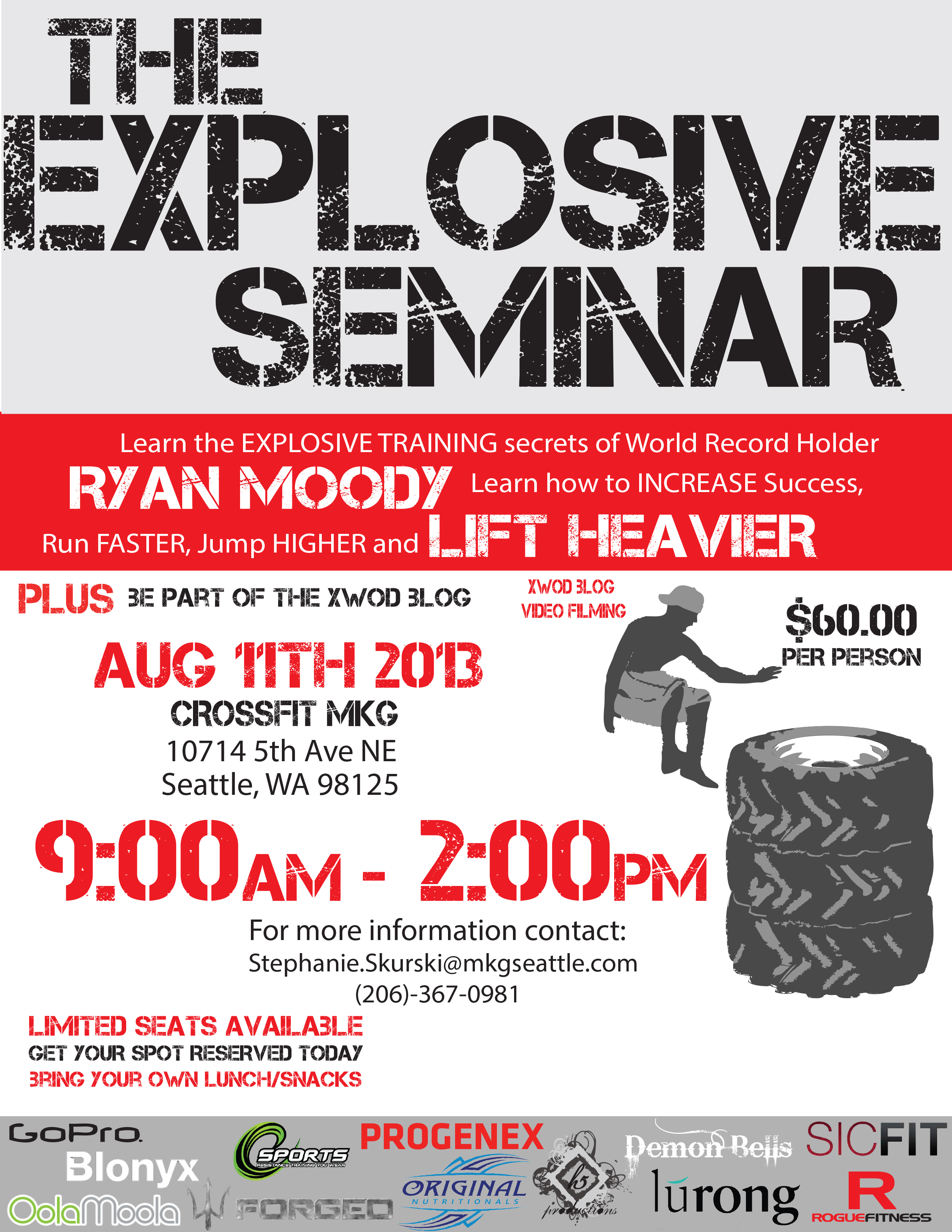Explosive Seminar With World Record Holder Ryan Moody August 11th ...