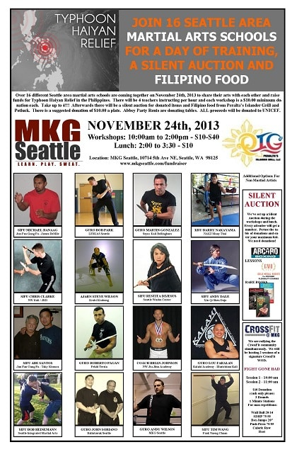 Seattle Martial Arts Fundraiser at MKG