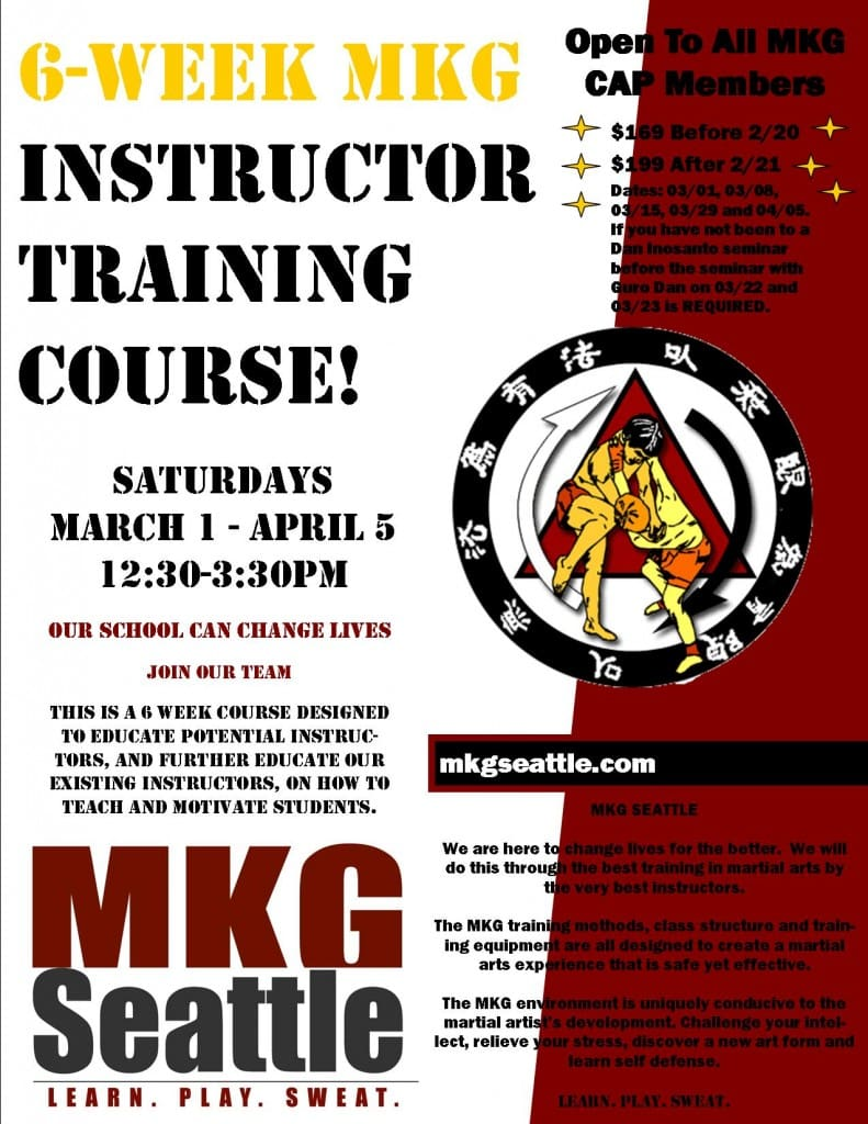 Martial Arts Instructor Training Seattle