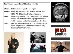 Taky Kimura Benefit at MKG Seattle