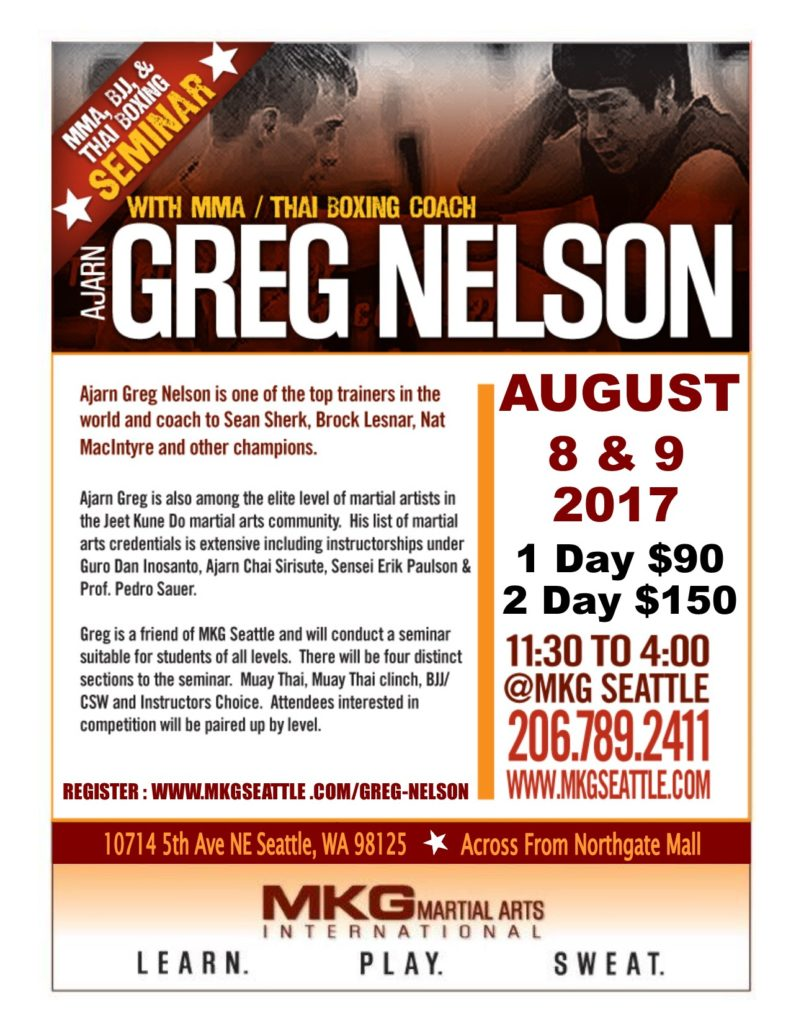 Greg Nelson Seminar Seattle 2017