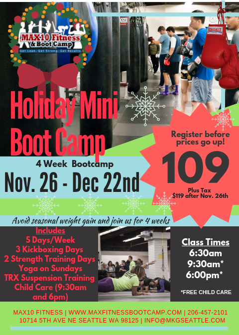 Holiday Boot Camp in North Seattle