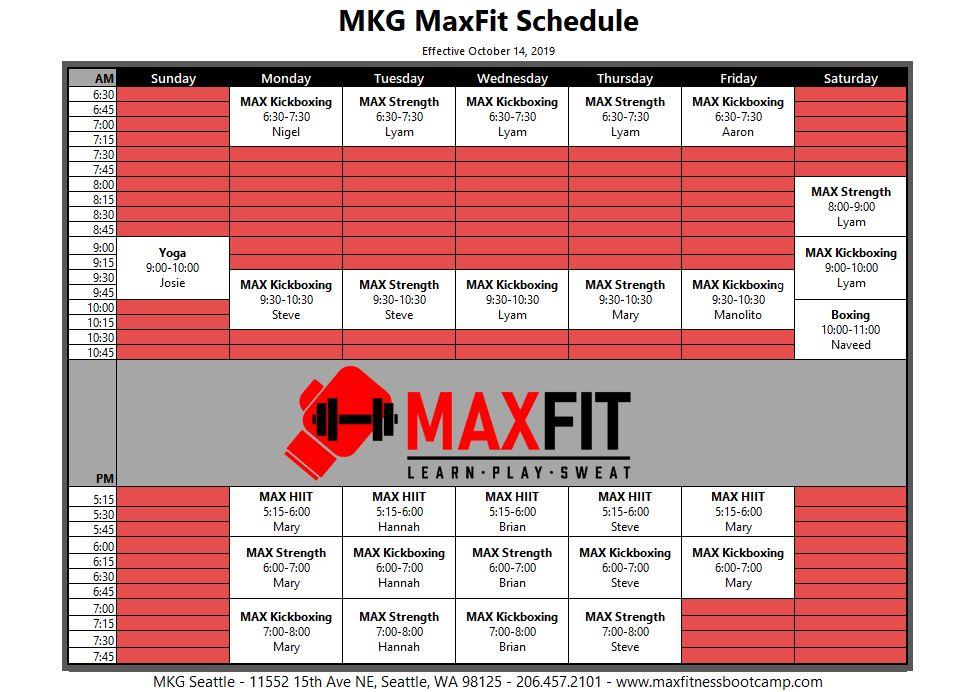 MAX10 Pinehurst Schedule 2019